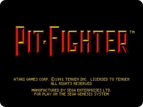 pitfi01 - Pit Fighter (Sega MegaDrive, 1990)